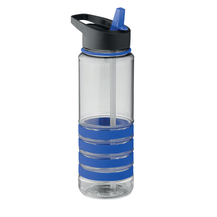Sticla tritan albastra mo9226 BPA free 750 ml personalizare gravura laser tampografie, sticker