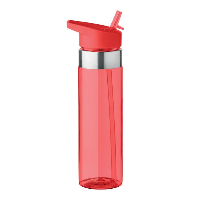 Sticla tritan rosie mo9227 BPA free 650 ml personalizare gravura laser tampografie, sticker