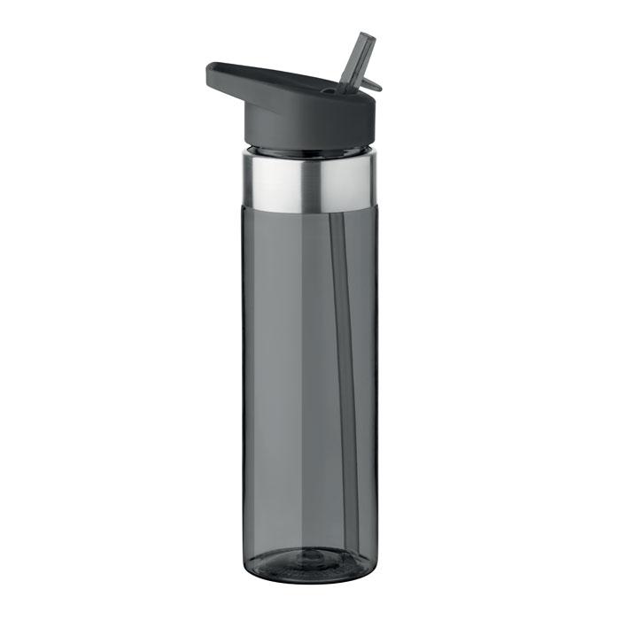 Sticla tritan gri mo9227 BPA free 650 ml personalizare gravura laser tampografie, sticker