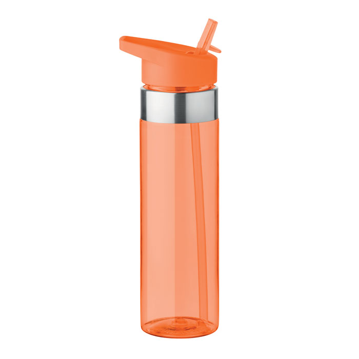 Sticla tritan portocalie mo9227 BPA free 650 ml personalizare gravura laser tampografie, sticker