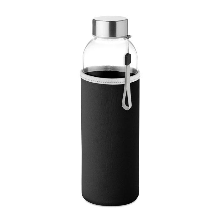 Sticla saculet negru mo9358 500 ml personalizare gravura laser tampografie, sticker