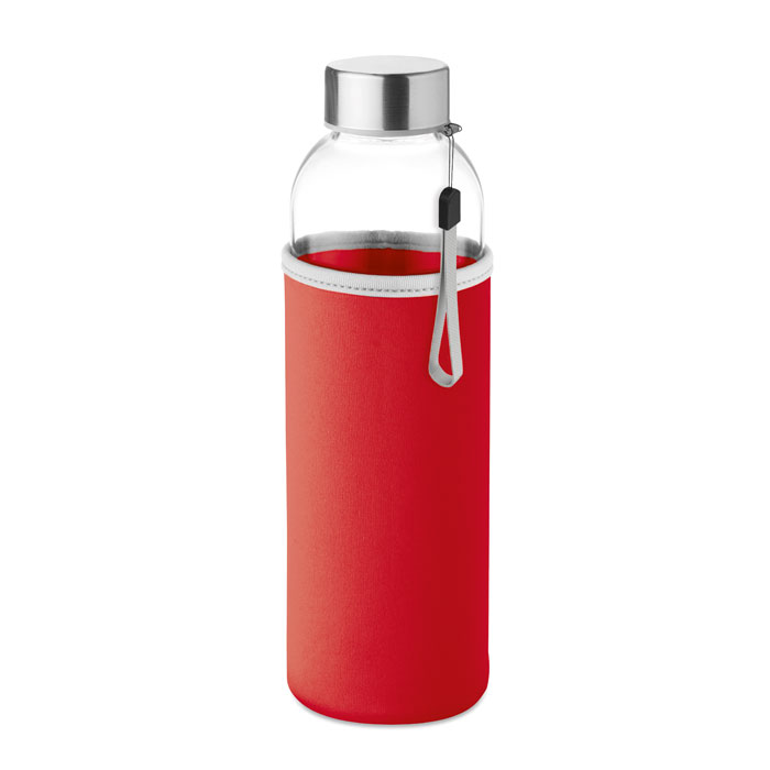 Sticla saculet rosu mo9358 500 ml personalizare gravura laser tampografie, sticker