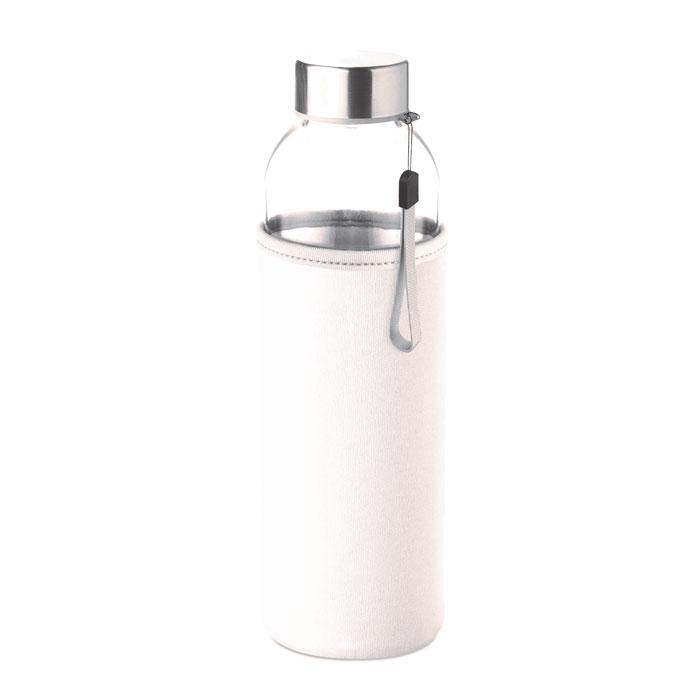 Sticla saculet alb mo9358 500 ml personalizare gravura laser tampografie, sticker