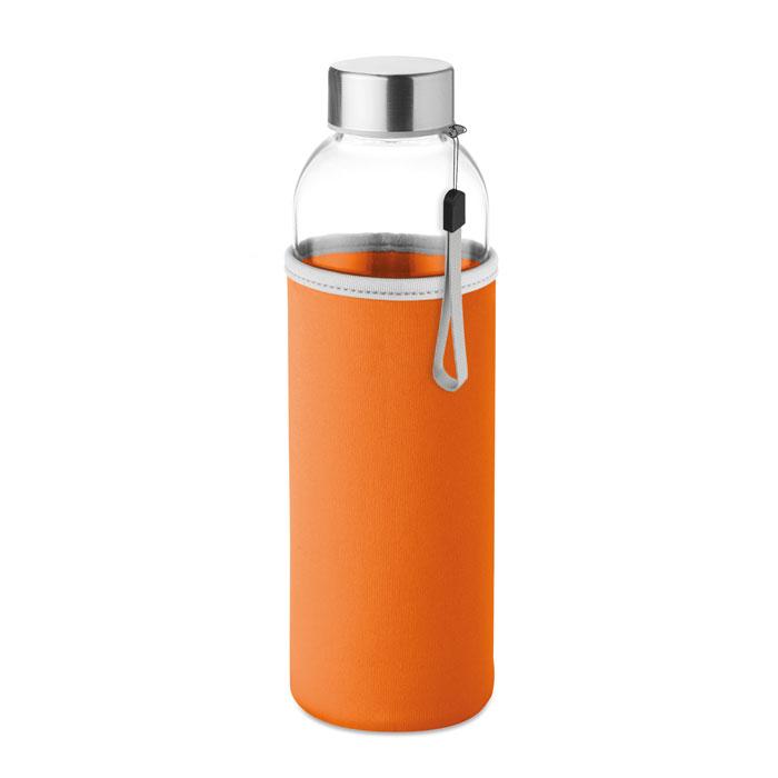 Sticla saculet portocaliu mo9358 500 ml personalizare gravura laser tampografie, sticker