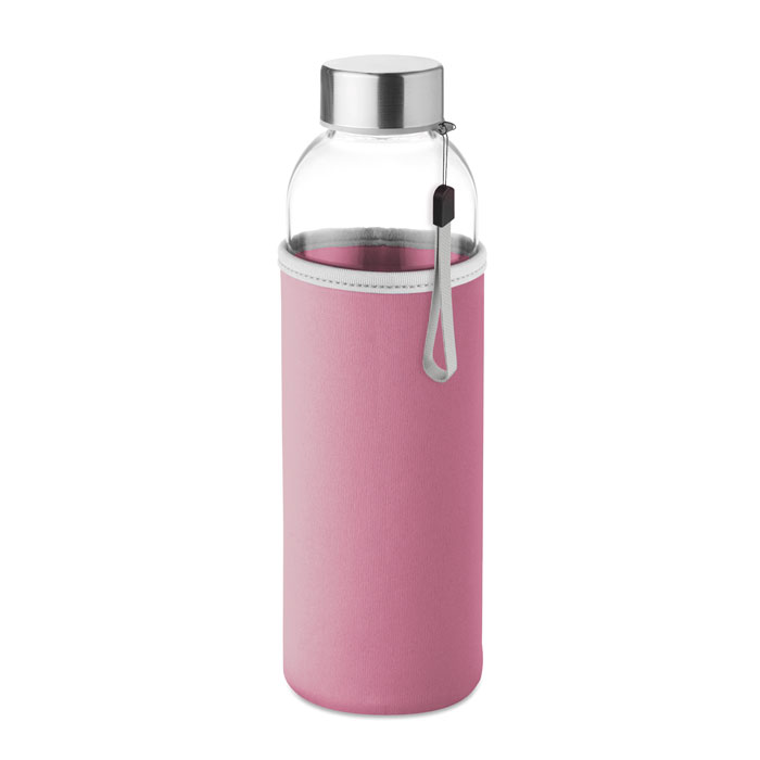 Sticla saculet roz mo9358 500 ml personalizare gravura laser tampografie, sticker