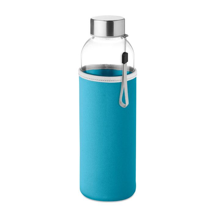 Sticla saculet turquoise mo9358 500 ml personalizare gravura laser tampografie, sticker