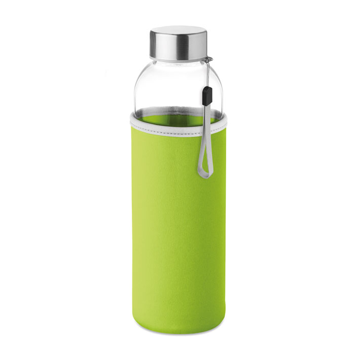 Sticla saculet verde lime mo9358 500 ml personalizare gravura laser tampografie, sticker