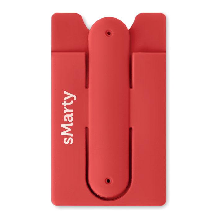 Port card RFID rosu mo9685 silicon protectie banda adeziv 3M personalizare tampografie