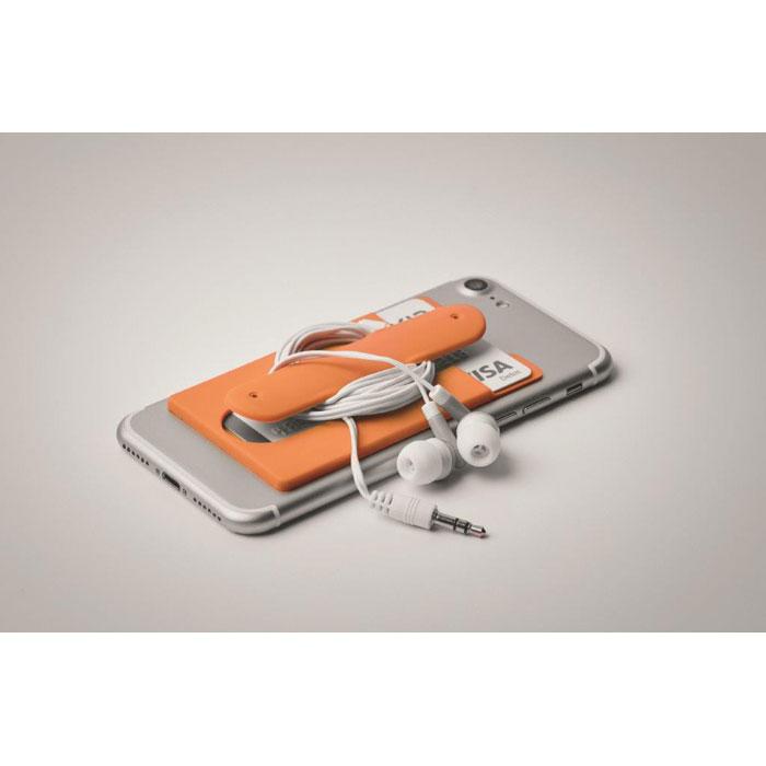 Port card RFID portocaliu mo9685 silicon protectie banda adeziv 3M personalizare tampografie