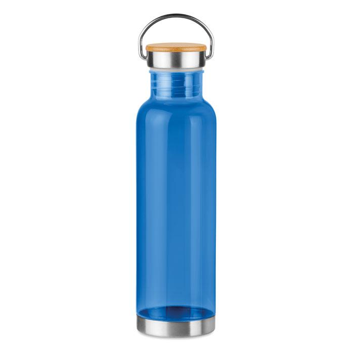 Sticla tritan albastra mo9850 BPA free 800 ml personalizare gravura laser tampografie, sticker