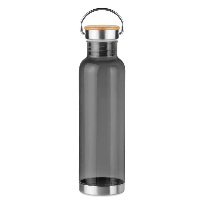 Sticla tritan gri mo9850 BPA free 800 ml personalizare gravura laser tampografie, sticker