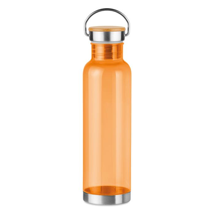Sticla tritan portocalie mo9850 BPA free 800 ml personalizare gravura laser tampografie, sticker