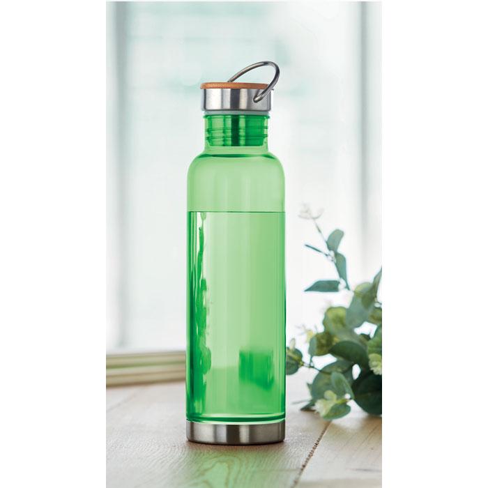 Sticla tritan verde lime mo9850 BPA free 800 ml personalizare gravura laser tampografie, sticker