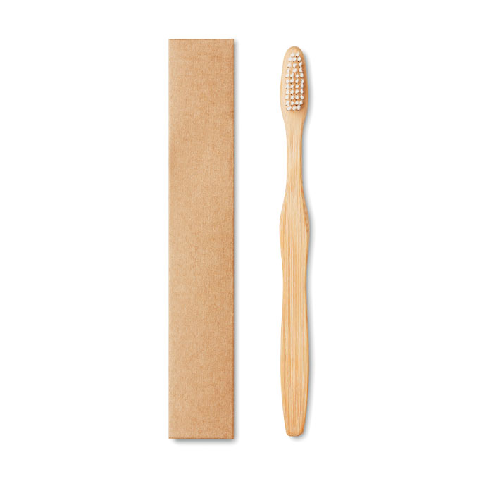 Periuta dinti din bambus perie alba mo9877