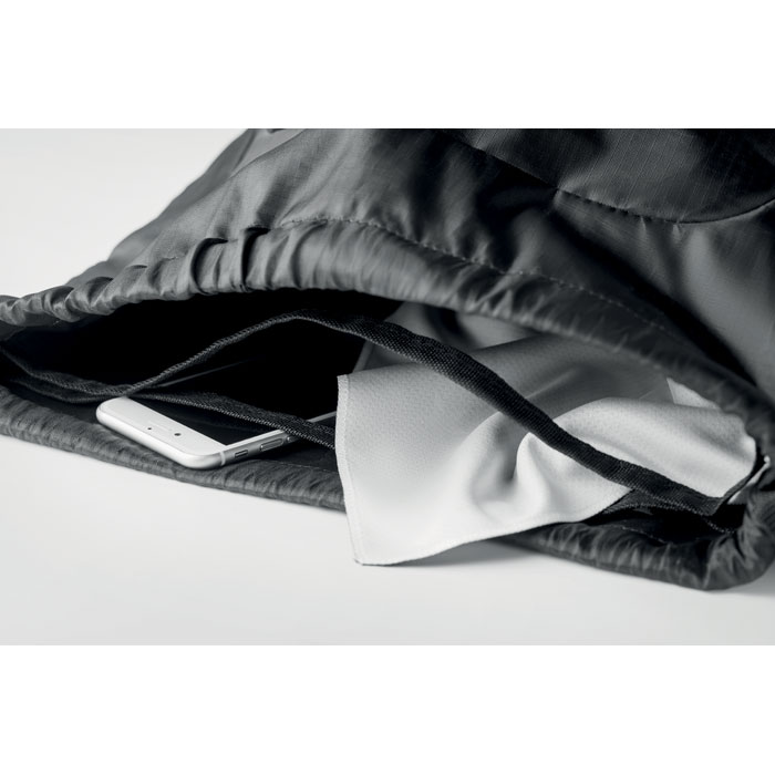 Rucsac sport negru mo6113 ripstop buzunar plasa alergare munte climb serigrafie termotransfer | Toroadv.ro