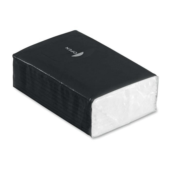 Pachet 10 servetele ambalaj negru mo8649 personalizare sticker | Toroadv.ro