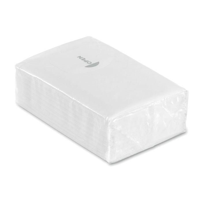 Pachet 10 servetele ambalaj alb mo8649 personalizare sticker | Toroadv.ro