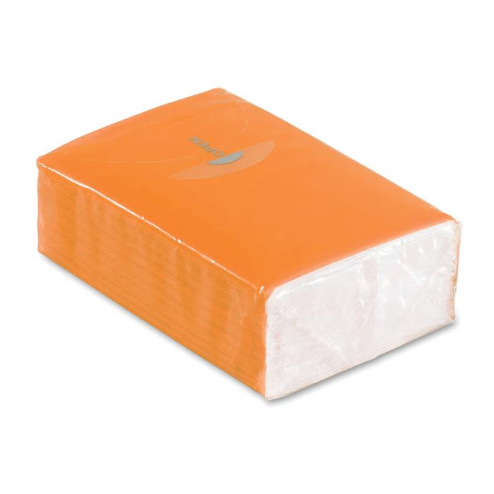 Pachet 10 servetele ambalaj portocaliu mo8649 personalizare sticker | Toroadv.ro