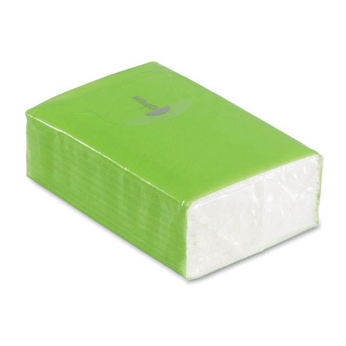 Pachet 10 servetele ambalaj verde mo8649 personalizare sticker | Toroadv.ro