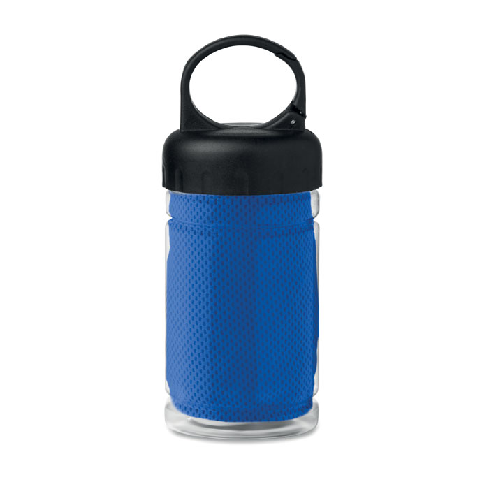 Sticla si prosop microfibra mo9203 albastru 300 ml serigrafie broderie   Toroadv.ro