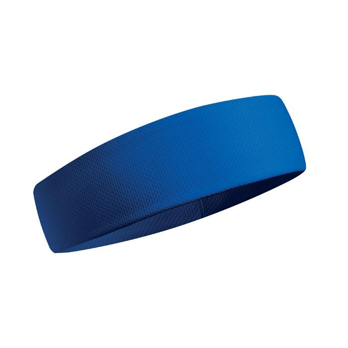Banda cap albastra mo9462 absorbanta transpiratie poliester sport | Toroadv.ro