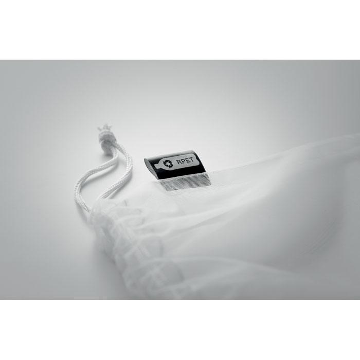 Saculet alimente alb mo9880 plastic reciclat RPET anti alterare serigrafie sublimare termotransfer | Toroadv.ro