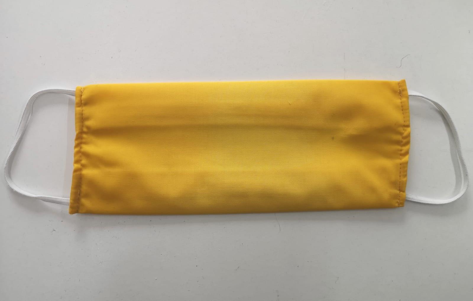 Masca galbena strat sistem dublu elastic reutilizabila personalizata | Toroadv.ro