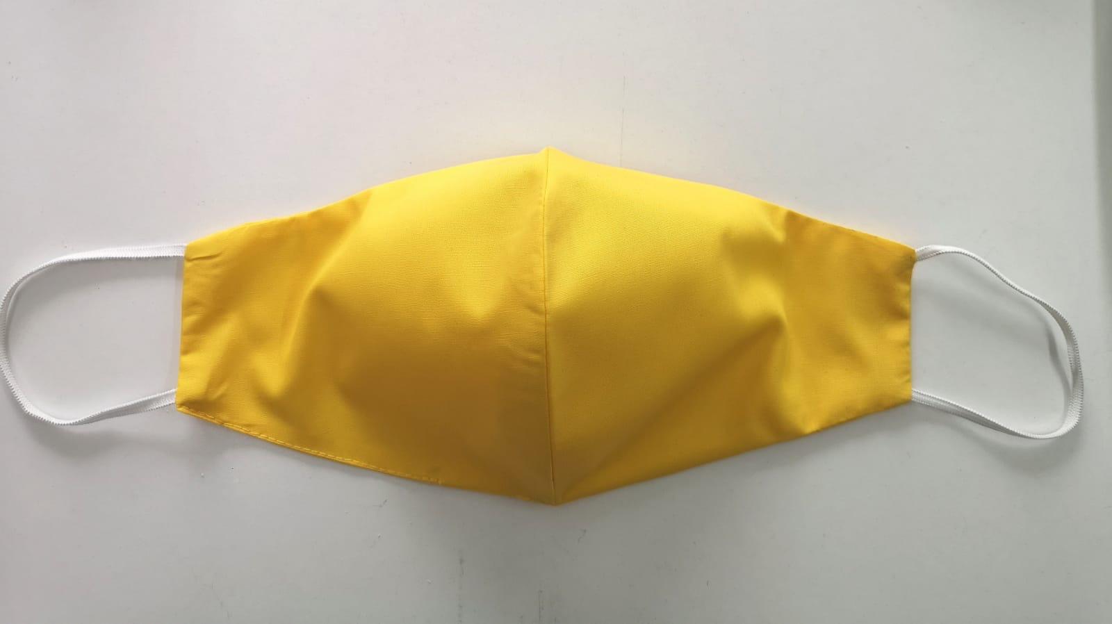 Masca galbena tip ratusca 2 straturi elastic reutilizabila personalizata | Toroadv.ro